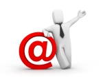 The businessman and email symbol